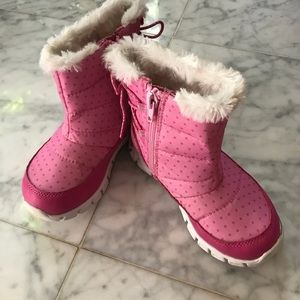 Girls Stride Rite Surprize Snow Boots EUC